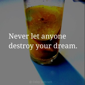 Never let anyone destroy your dream motivation